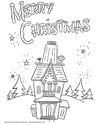 christmas house coloring pages. Brilliant Christmas Merry Christmas House Party Coloring Sheet With Pages R