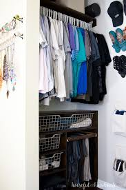 create a perfectly organized walk in closet on a budget with these easy to build plywood