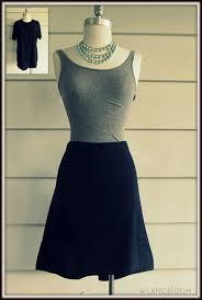 no sew t shirt skirt diy