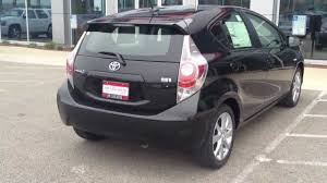 2012 Toyota Prius C package FOUR black on black Review test drive ...