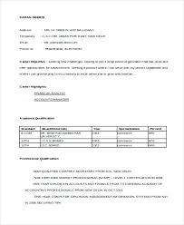 Sample Resume For Accountant Fresher Sample Resume Accountant