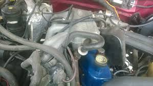 vacuum lines 1995 f150 4 9l ford truck enthusiasts forums i m not sure if this will help i m not even 100% sure its correct it still sounds like there s a small vacuum leak somewhere but i think its just that 90