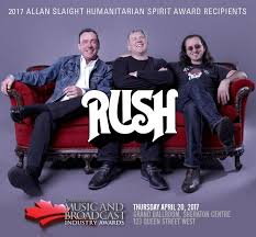 Spirit Awards Chart 2017 Rush Announced As The 2017 Recipients Of The Allan Slaight
