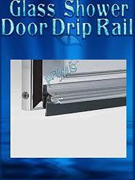 36 chrome framed glass shower door drip