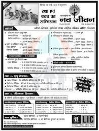 Lic Nav Chart Lic Life Insurance Plans Policy In Hindi For Senior Citizens