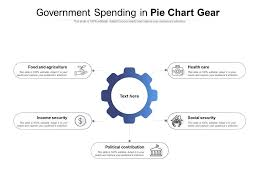 Government Spending In Pie Chart Gear Powerpoint Templates