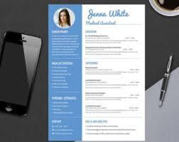 Modern Healthcare Resume Modern Professional Resume Template For Ms Word Minimal Etsy