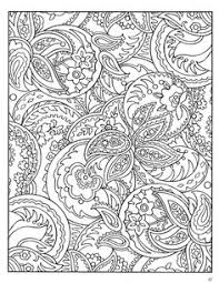 patterns to color. Plain Color Design Coloring Pages Adults  Dover Paisley Designs Book Intended Patterns To Color T