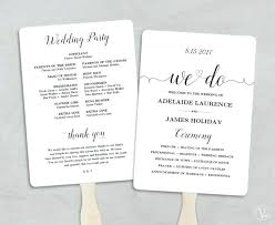Wedding Program Fans Cheap Wedding Program Fans Cheap Paddle Fan Template Free Saleonline Info