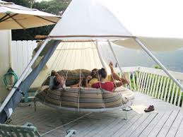 round hanging hammock bed with sunshade the floatingbed