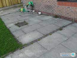 patio re laying rip up or screed over
