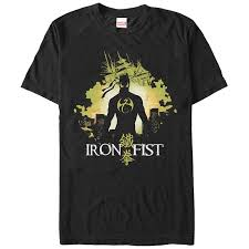 Iron fist superhero t-shirts