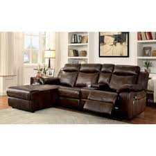 leather sofa with chaise.  Leather Furniture Of America Tristen Reclining LShaped Leatherette Sectional With Leather Sofa Chaise E
