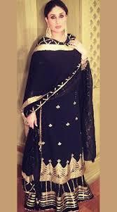 Black Sharara Designs Kareena Kapoor In Black Chiffon Designer Sharara Sm1906