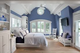 bedroom decor ceiling fan. Cape Cod Bedroom Decor Beach Style With Ceiling Fan Blue And White R