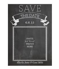 Chalkboard Save The Date Cards Chicfetti