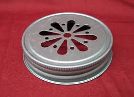 Decorative Mason Jar Lids Pewter Daisy Cut Mason Jelly Jar lids for drinking candles and 32
