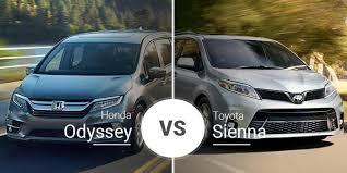 Honda Odyssey Vs Toyota Sienna Minivan Matchup