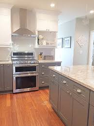 vanity two tone kitchen cabinets 2 kitchens with stylish
