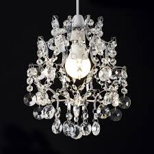 genuine lead crystal chandelier shade in two colours in clear
