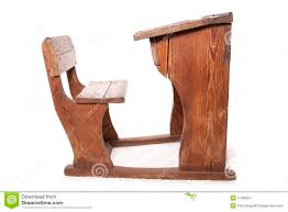 Wooden school desk and chair 1970s Old Vintage School Desk And Chair Dreamstimecom Old Vintage School Desk And Chair Stock Image Image Of Cutout