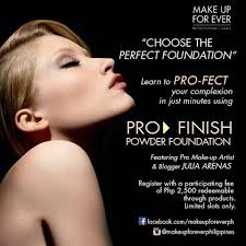 pro finish powder foundation i m thanking my lucky stars that julia was so kind to pick me i ve always wanted to be able to join mufe works but