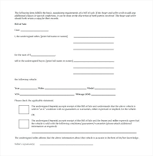 Copy Bill Of Sale Blank Simple Auto Bill Of Sale Form Car Free Printable Copy