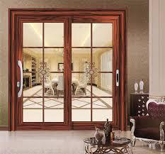 china great design wooden color finished heavy duty aluminum sliding door china sliding door aluminum door