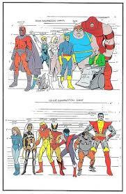 X Men Height Chart Marvel Comics X Men Marvel Dc Comics