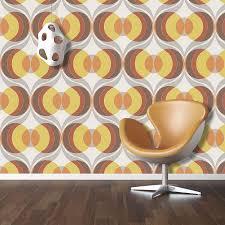 Retro Cirkel Wallpaper Luxe Plakken De Muur Vinyl Rasch Chocolade