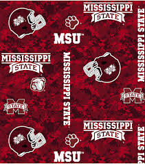 Mississippi State University Embroidery Designs Mississippi State University Bulldogs Fleece Fabric Digital Camo