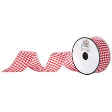 "Red & White <b>Gingham Ribbon</b> - <b>1 1</b>/2"" | Hobby Lobby | 48593"