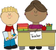 teacher desk clipart. Perfect Teacher Boy At Teacheru0027s Desk Clip Art  Vector Image Inside Teacher Clipart I