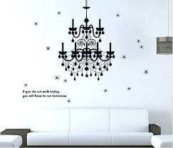 black metal chandelier wall decor with clear gems hobby lobby silhouette decoration