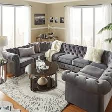Traditional living room furniture Comfortable Knightsbridge Tufted Scroll Arm Chesterfield 9seat Ushaped Sectional By Inspire Artisan Overstock Buy Traditional Living Room Furniture Sets Online At Overstockcom