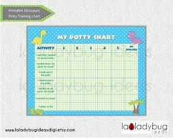 Potty Training Chart Dinosaur Printable Potty Training Chart For Girls Or Boys Instant Download Digital File Reward Chart Potty Training