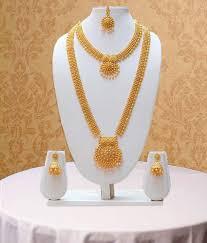 Long Rani Haar Designs In Gold Swarajshop Golden Copper Long Double Strand Rani Haar Necklace Set With Maang Tika