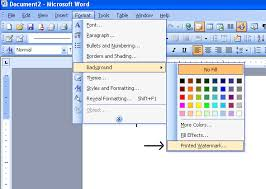 Office Word Format Watermark In Microsoft Word 2003 Microsoft Office Support
