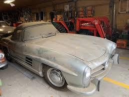Get great deals on ebay! 1960 Mercedes Benz 300sl Roadster Barn Find Sells For 1 1 Million