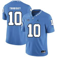 Blue Football Jersey 10 2019 Trubisky Carolina Mitchell North