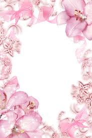 pink flower border clipart pink flowers borders and frames flower rose