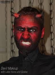 devil makeup with latex horns and goatee amazing makeup face devil makeup