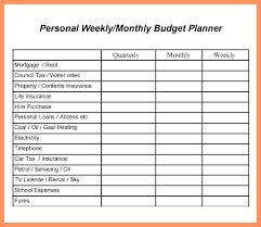 Personal Weekly Budget Templates Simple Budget Template Printable Free Templates Design