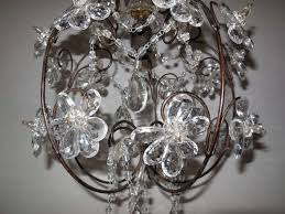 french clear crystal prisms bagues style flowers chandelier vintage for 1