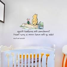 winnie the pooh wall art with widely used winnie the pooh e large nursery bedroom wall