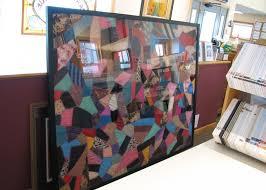 Framing Fabric & Textiles - Carter Avenue Frame Shop Custom ... & framed crazy quilt Adamdwight.com