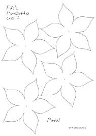 Paper Flower Petal Template Flower Pattern Printable Paper Flower Templates Printable Printable