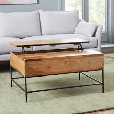 industrial storage pop up coffee table