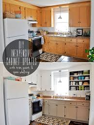 painting wood cabinets whiteinexpensively update old flatfront cabinets by adding trim paint