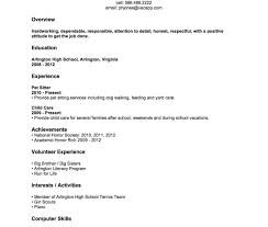 Resume Templates For High School Students High School Student Resume Template No Experience Student With No 21